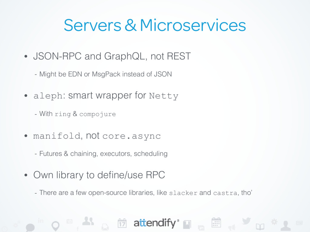 Servers & Microservices • JSON-RPC and GraphQL,...