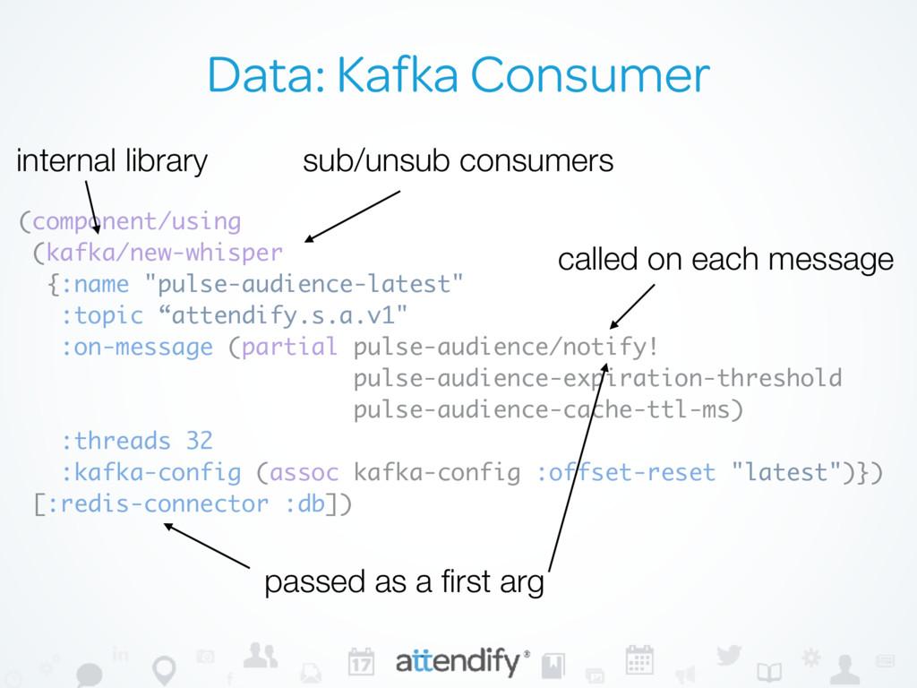 Data: Kafka Consumer (component/using (kafka/ne...
