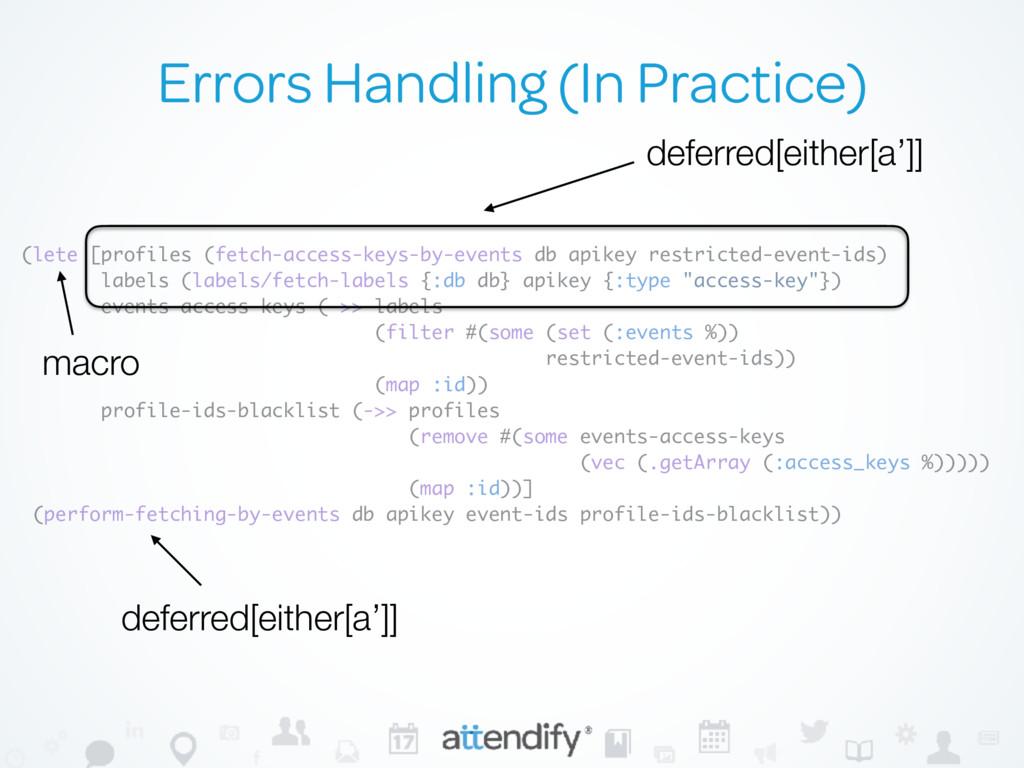 Errors Handling (In Practice) (lete [profiles (...