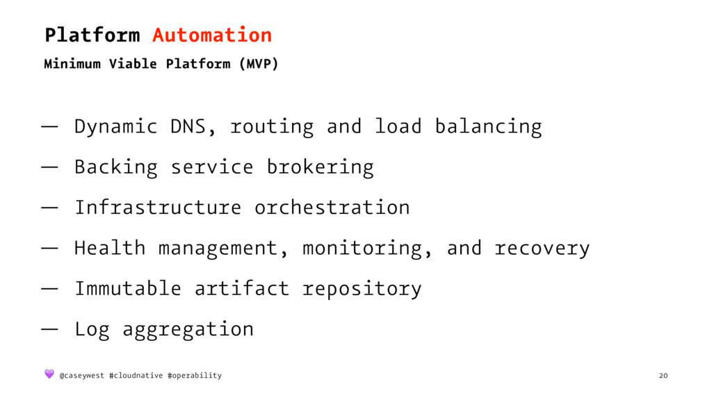 Platform Automation Minimum Viable Platform (MV...
