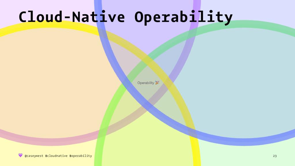Operability  Cloud-Native Operability ! @casey...