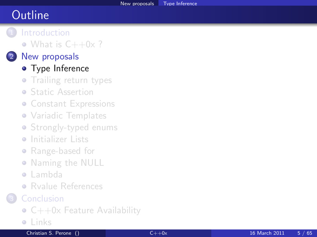 New proposals Type Inference Outline 1 Introduc...