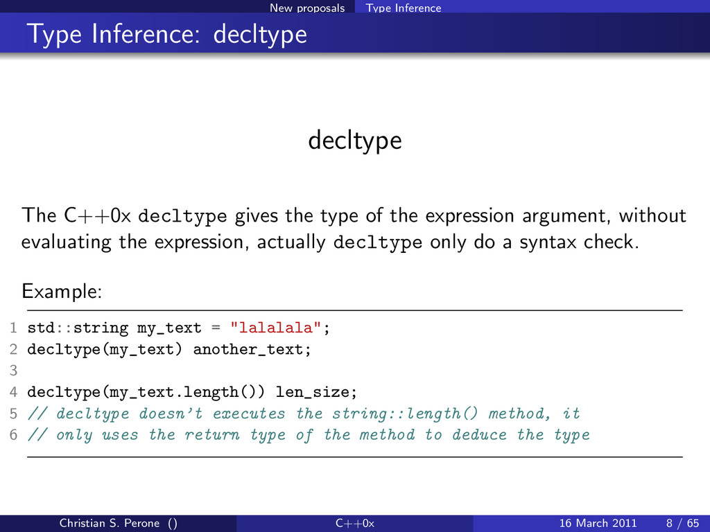 New proposals Type Inference Type Inference: de...