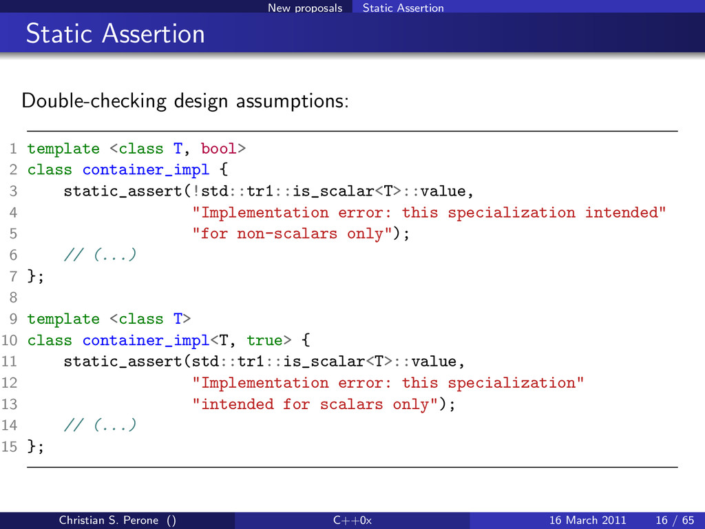 New proposals Static Assertion Static Assertion...