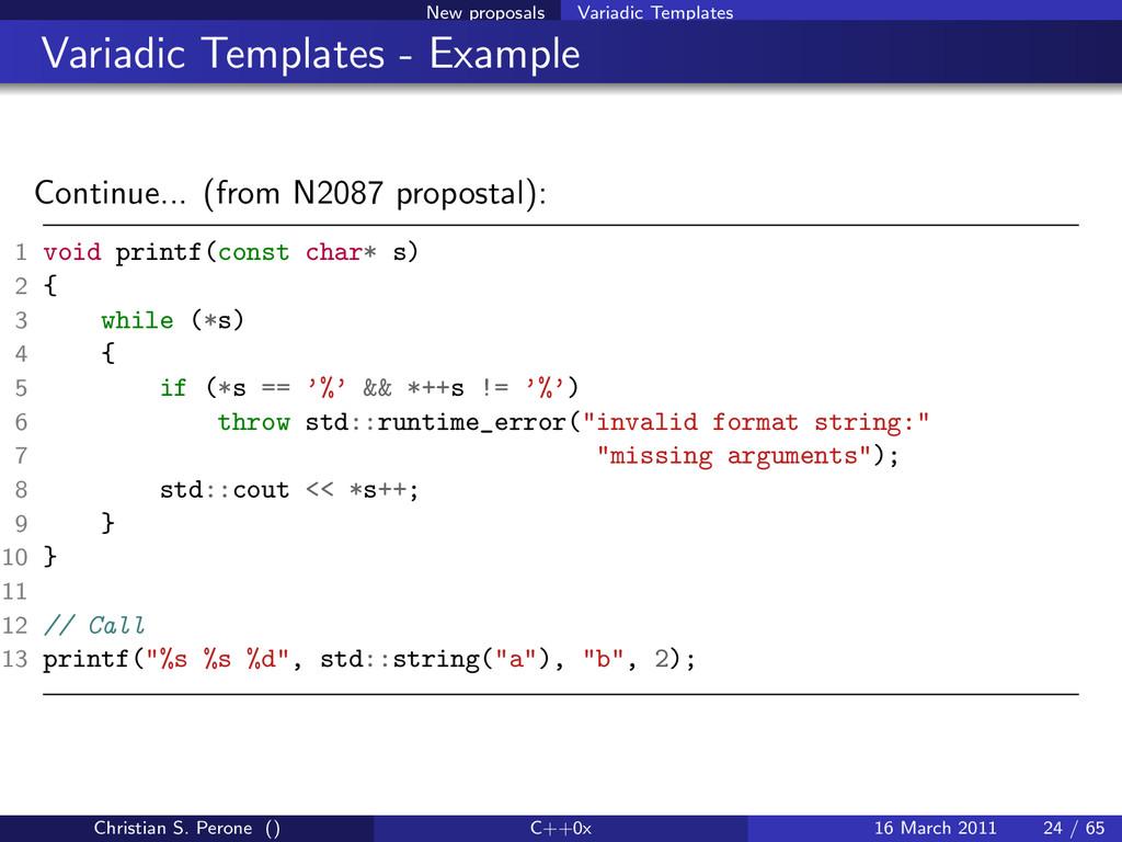 New proposals Variadic Templates Variadic Templ...
