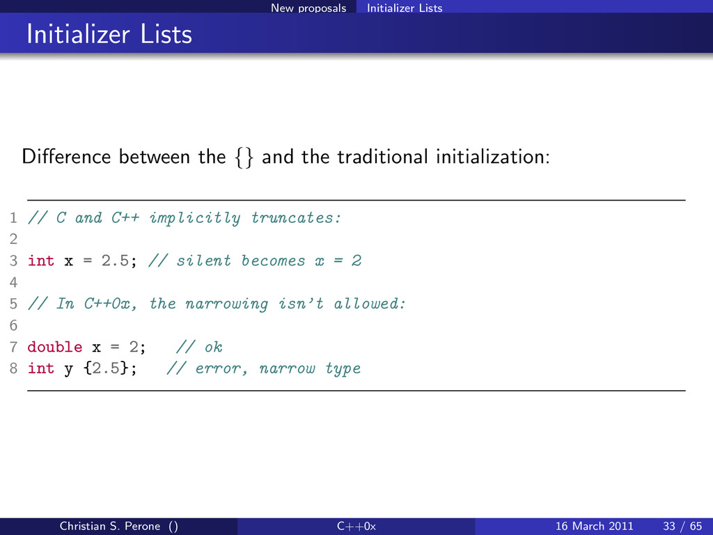 New proposals Initializer Lists Initializer Lis...