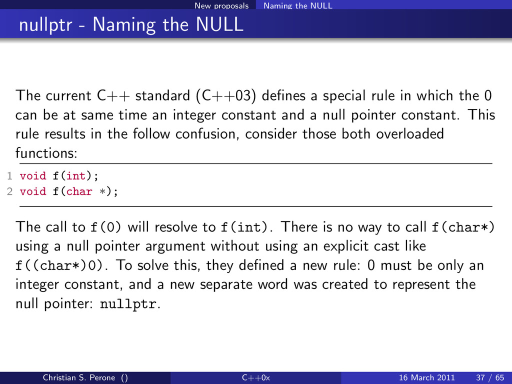 New proposals Naming the NULL nullptr - Naming ...