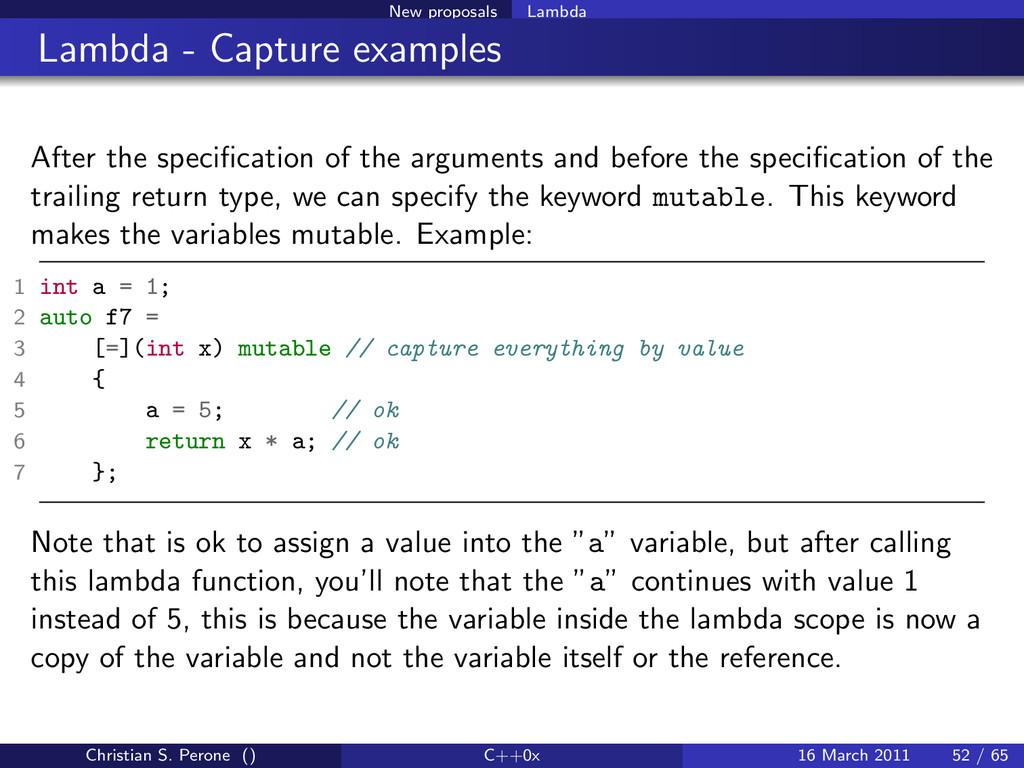 New proposals Lambda Lambda - Capture examples ...