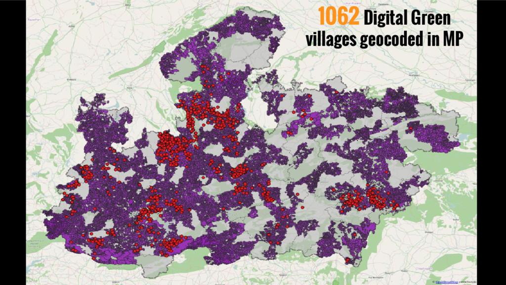 1062 Digital Green villages geocoded in MP