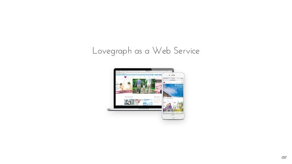0!17 Lovegraph as a Web Service