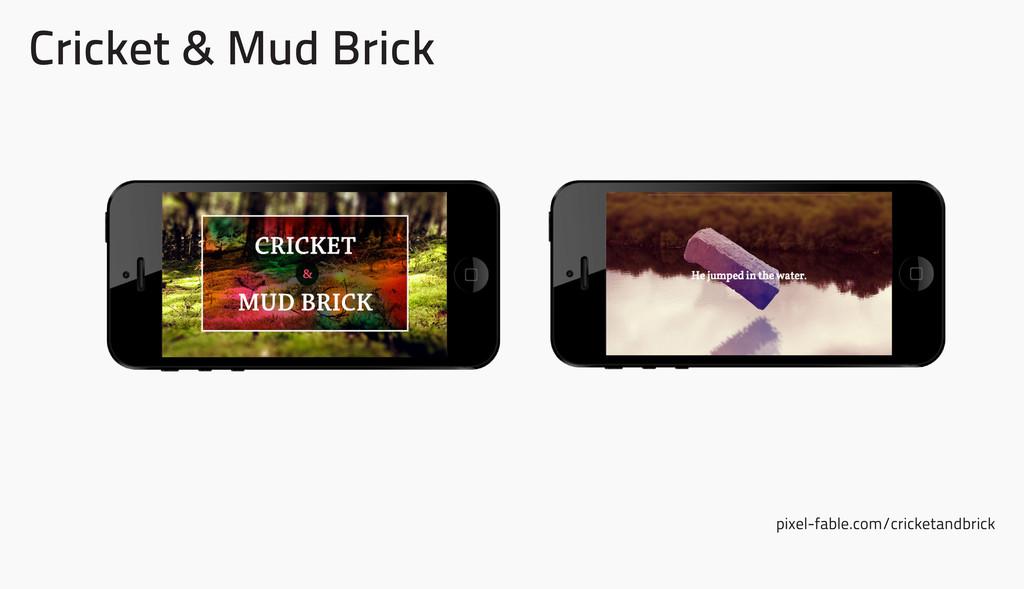 Cricket & Mud Brick pixel-fable.com/cricketandb...