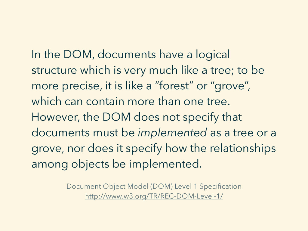 Document Object Model (DOM) Level 1 Specificatio...