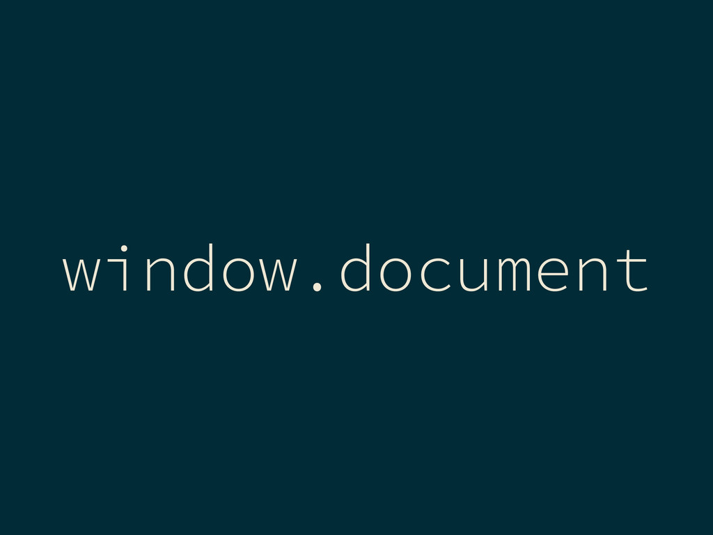 window.document