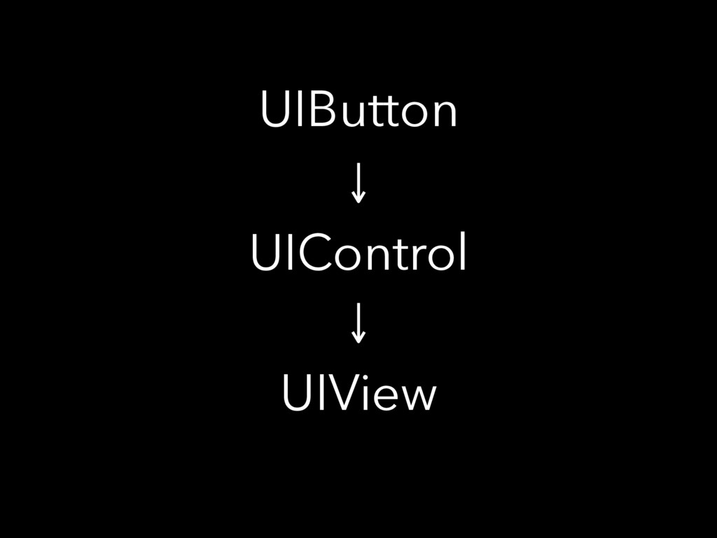 UIButton UIControl UIView