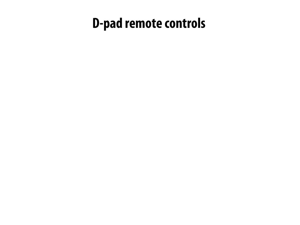 -pad remote controls D