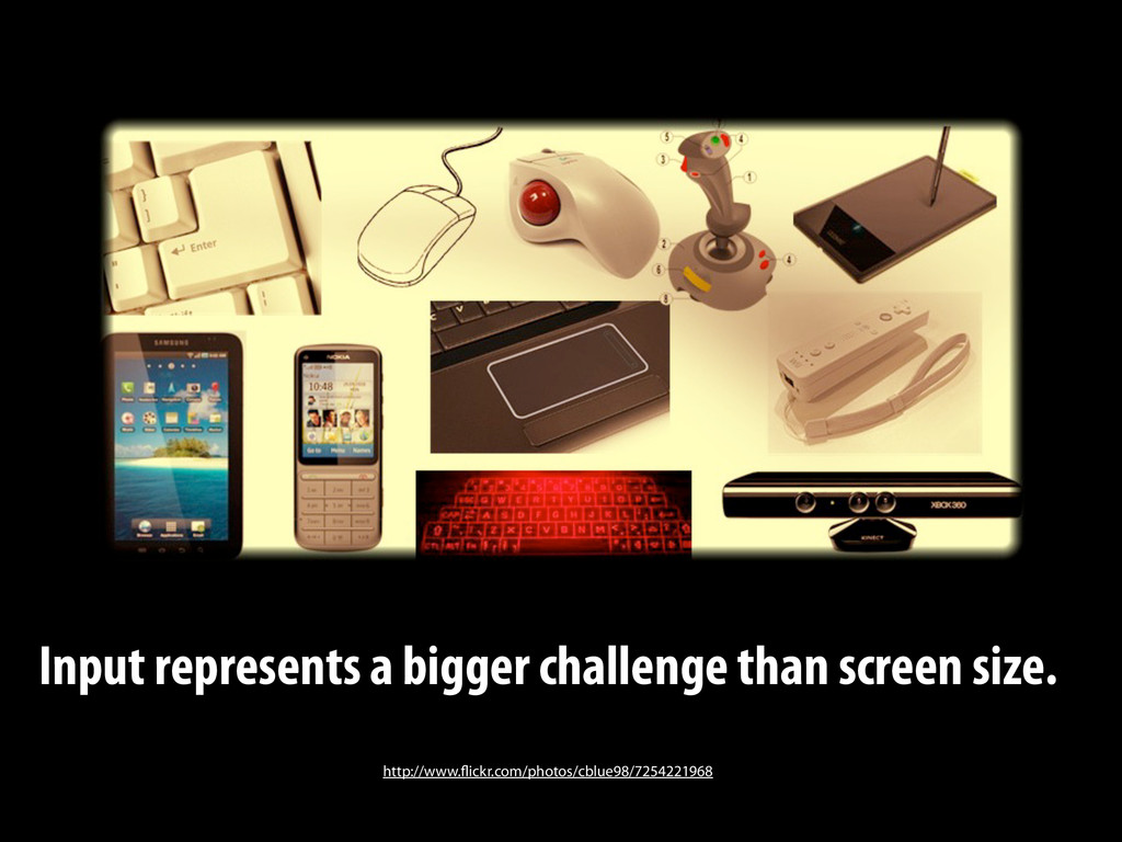 Input represents a bigger challenge than screen...