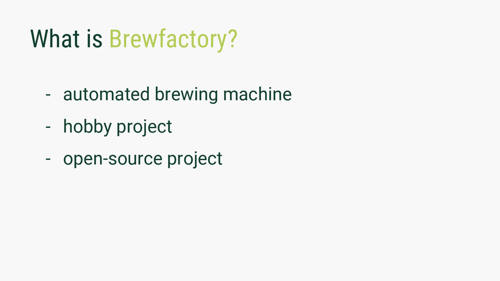 What is Brewfactory? - automated brewing machin...