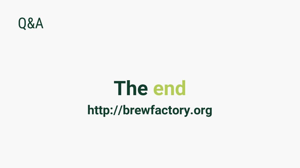 Q&A The end http://brewfactory.org