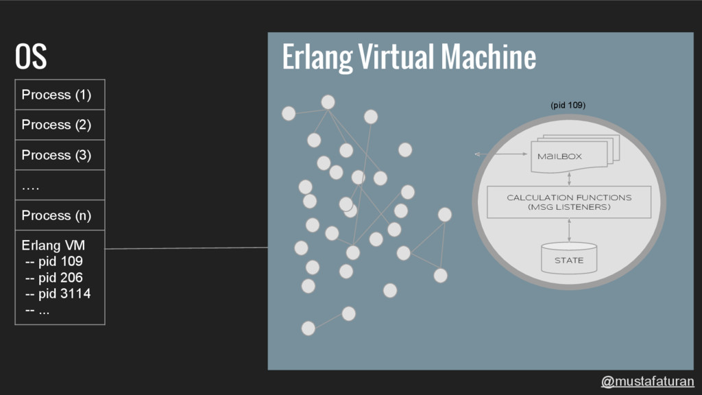 Erlang Virtual Machine OS Process (1) Process (...