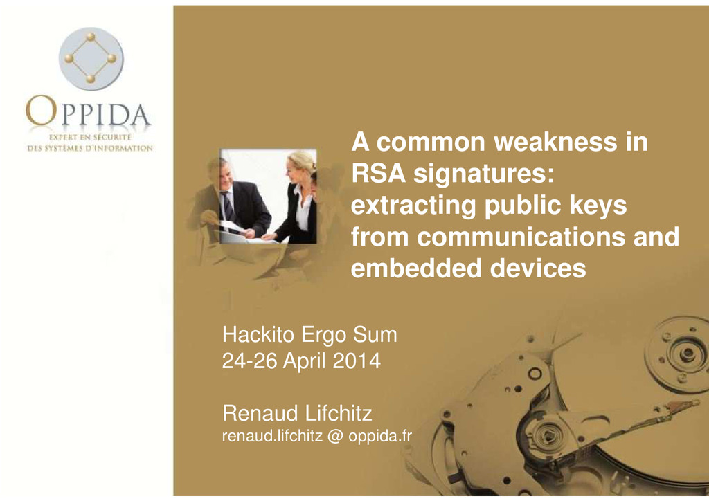 A common weakness in RSA signatures: extracting...