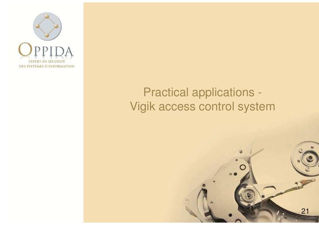 21 Practical applications - Vigik access contro...