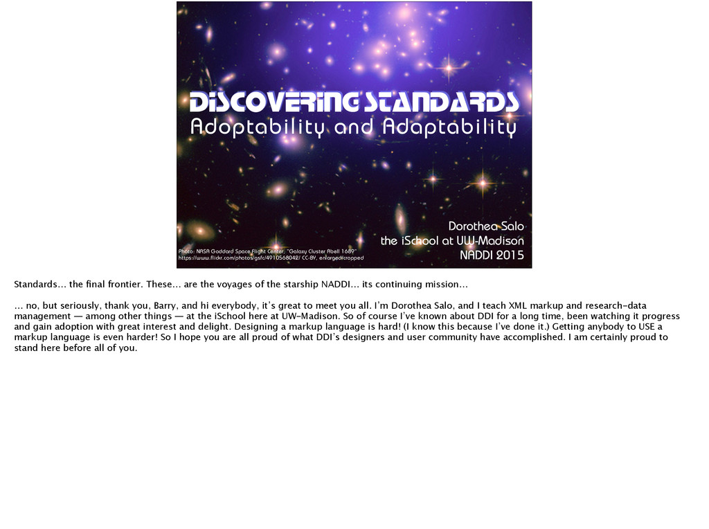DISCOVERING STANDARDS Adoptability and Adaptabi...