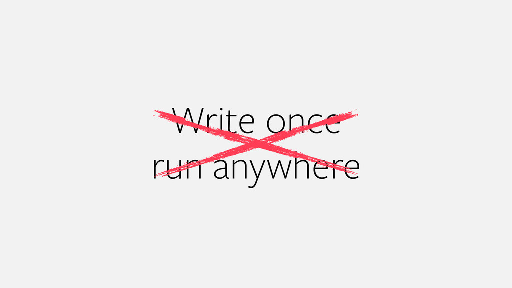 Write once run anywhere