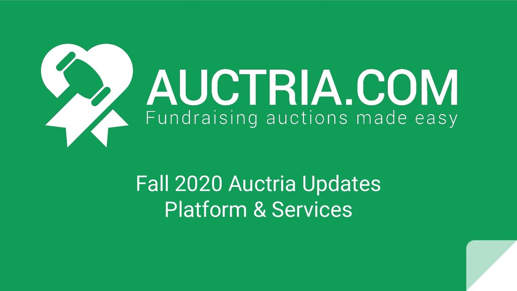 Fall 2020 Auctria Updates Platform & Services