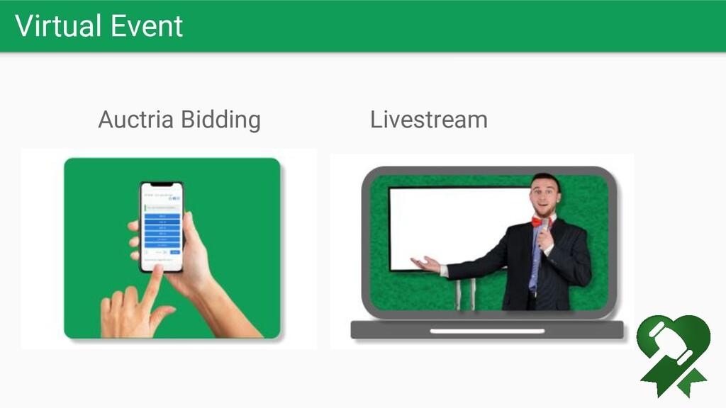 Virtual Event Livestream Auctria Bidding