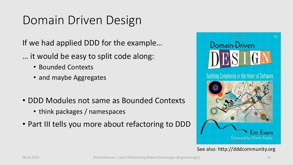 Domain Driven Design 06.04.2018 24 JPoint Mosco...