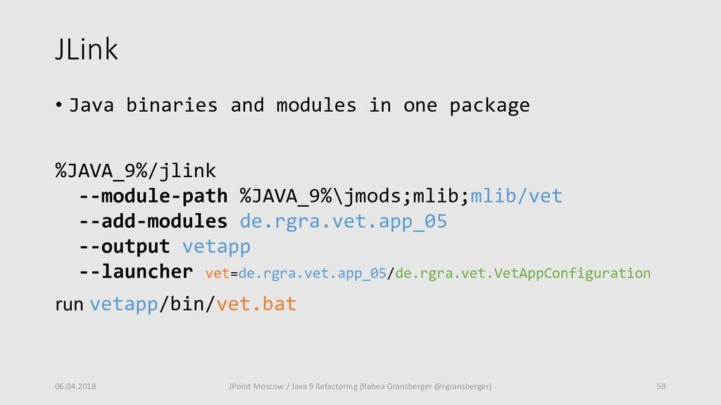 JLink • Java binaries and modules in one packag...