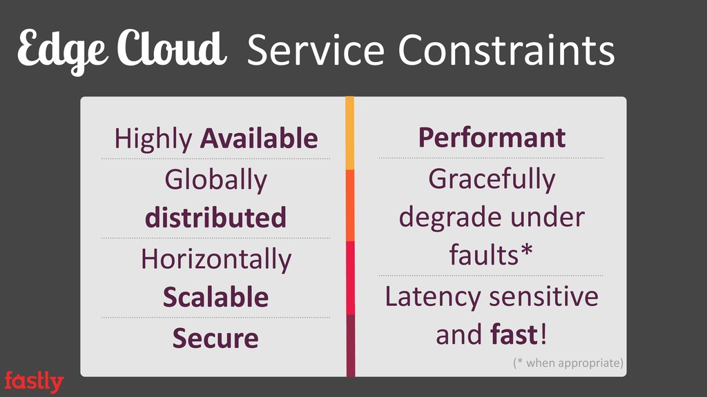 Edge Cloud Service Constraints Highly Available...