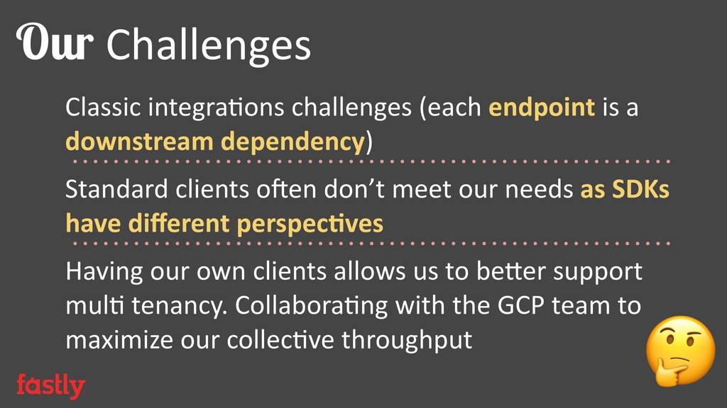 Classic integrabons challenges (each endpoint i...