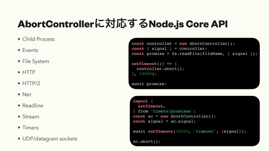 AbortControllerʹରԠ͢ΔNode.js Core API • Child Pr...