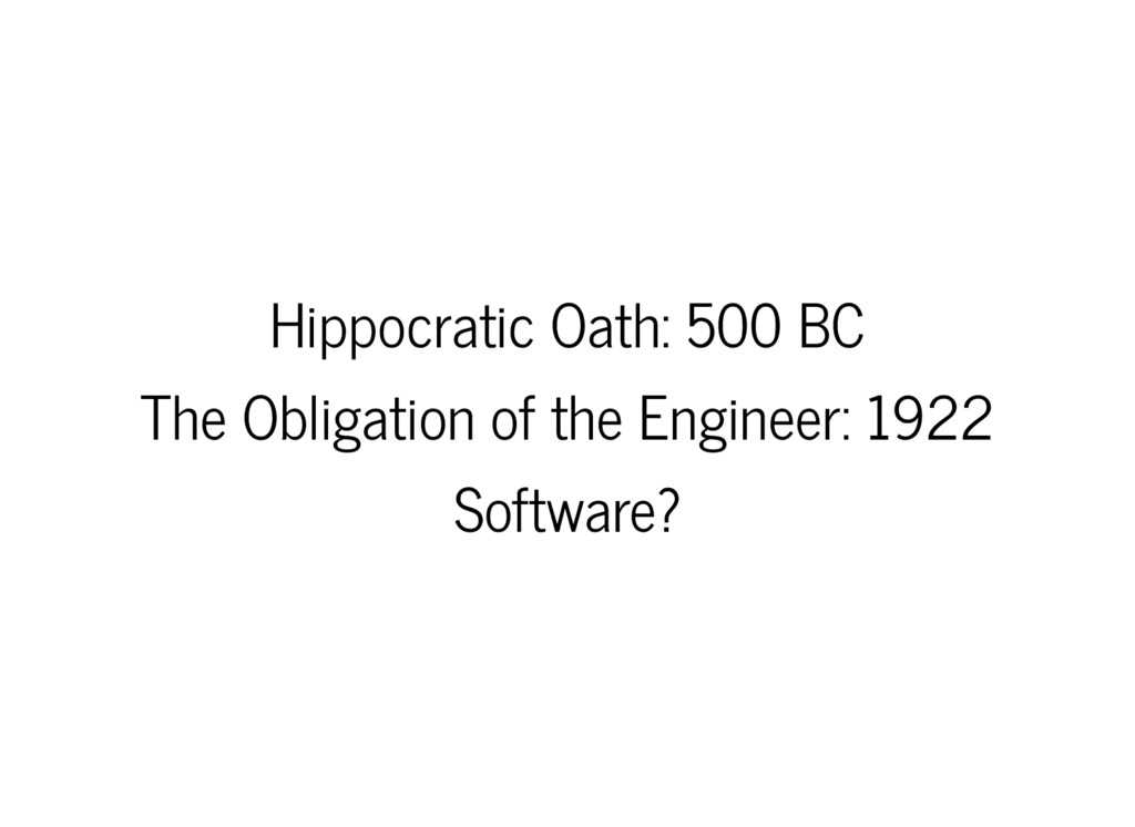 Hippocratic Oath: 500 BC The Obligation of the ...