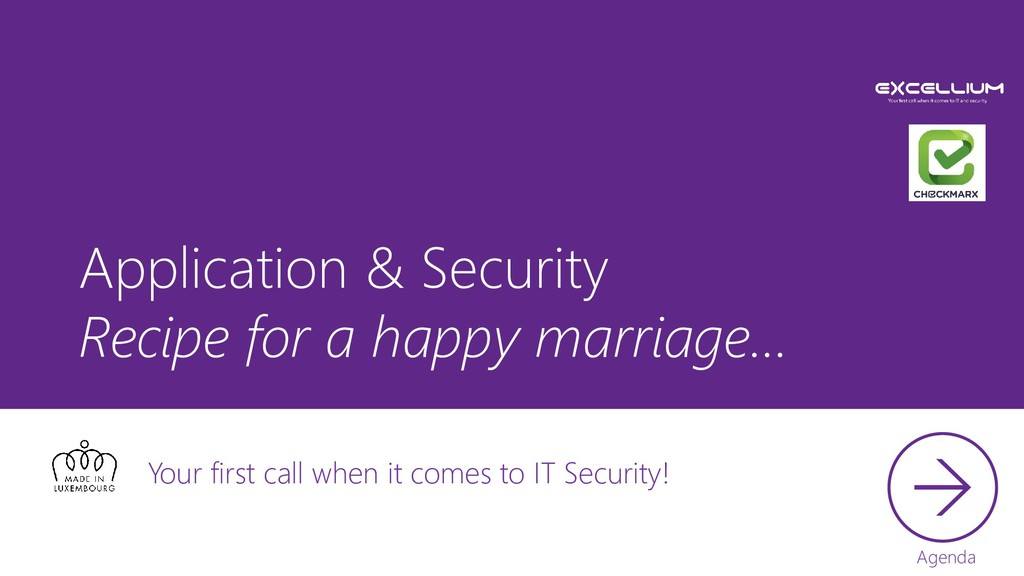 Application & Security Recipe for a happy marri...