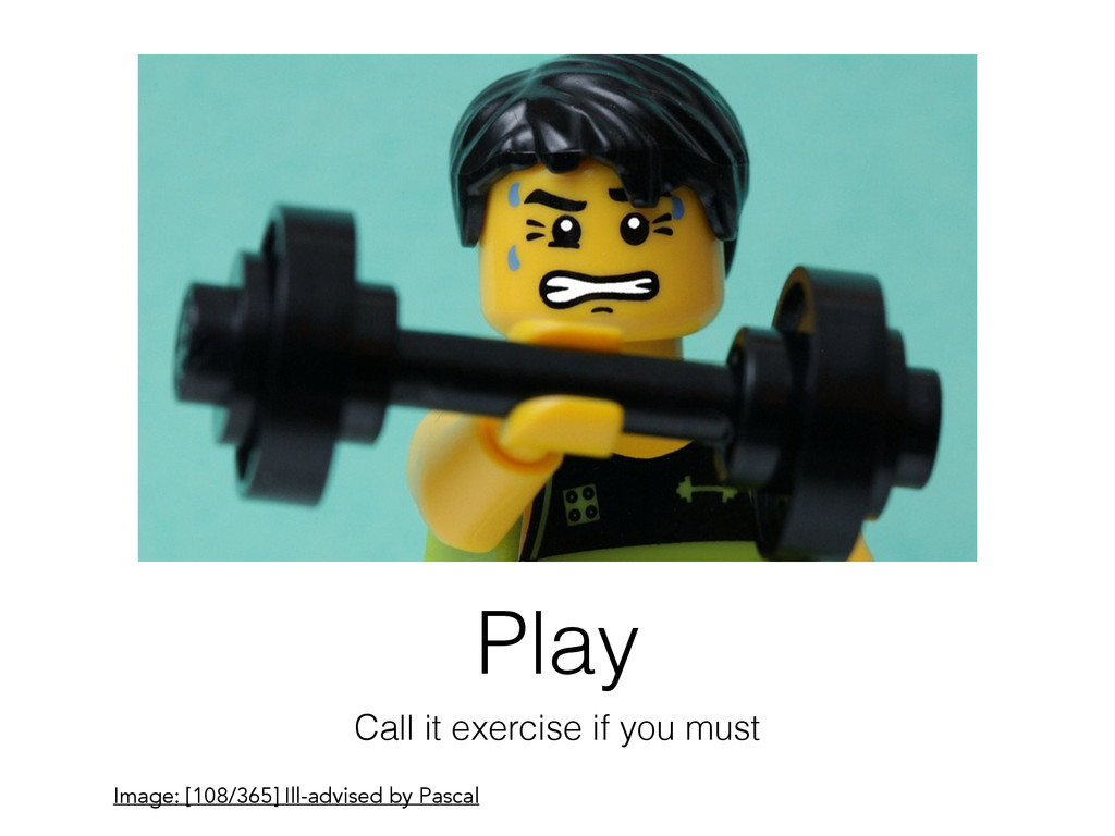 Play Call it exercise if you must Image: [108/3...