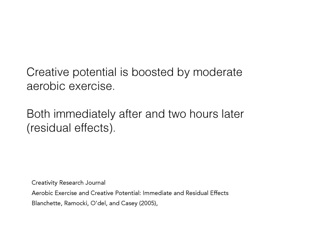 Creative potential is boosted by moderate aerob...