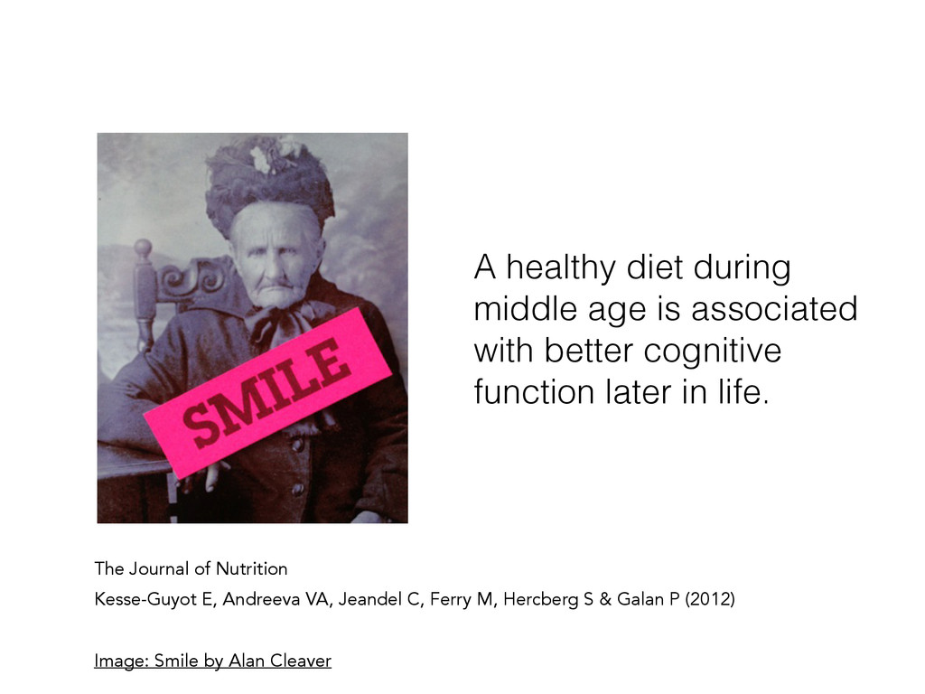 A healthy diet during middle age is associated ...