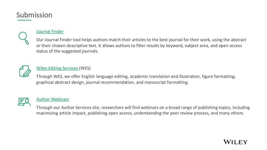 Submission Journal Finder Our Journal Finder to...