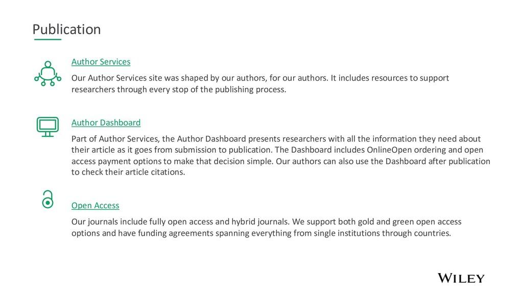 Publication Author Services Our Author Services...