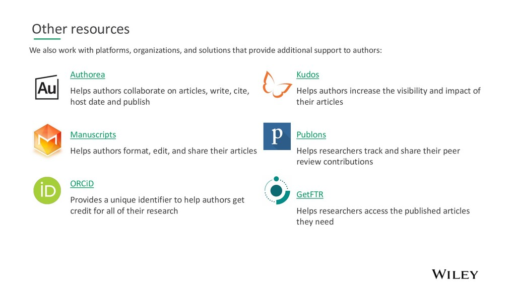 Other resources Authorea Helps authors collabor...