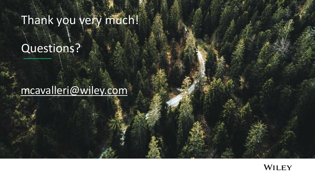 Thank you very much! Questions? mcavalleri@wile...