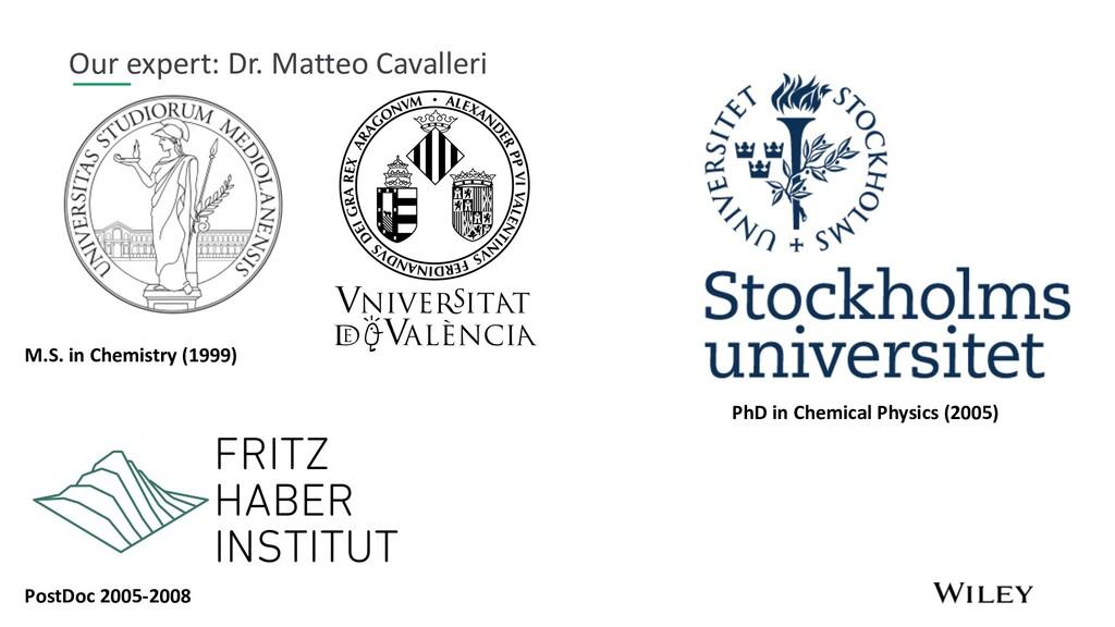 Our expert: Dr. Matteo Cavalleri M.S. in Chemis...