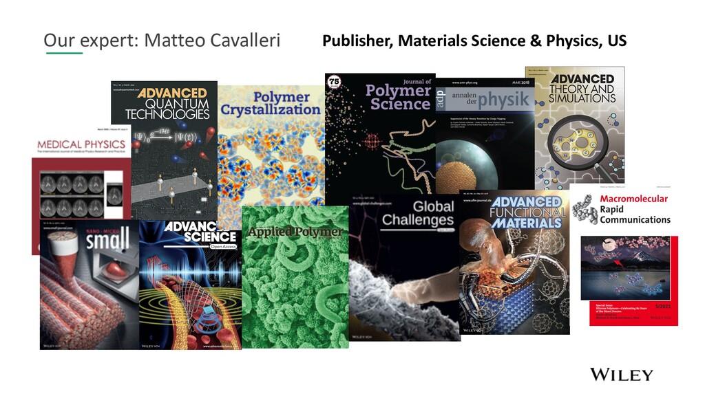 Our expert: Matteo Cavalleri Publisher, Materia...