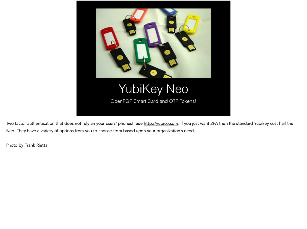 YubiKey Neo OpenPGP Smart Card and OTP Tokens! ...