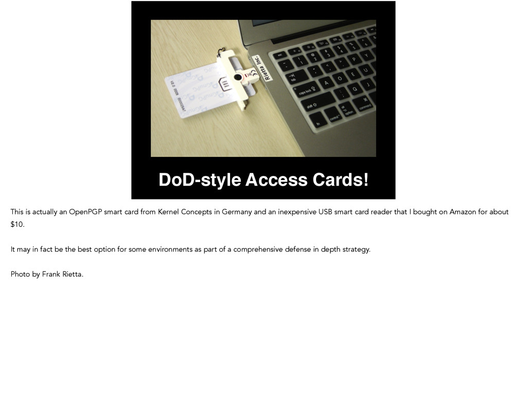 DoD-style Access Cards! This is actually an Ope...