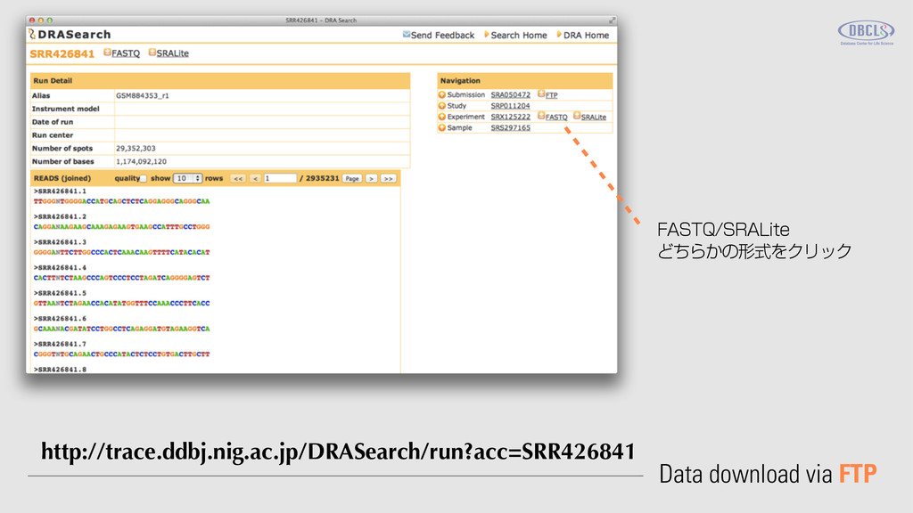 Data download via FTP http://trace.ddbj.nig.ac....