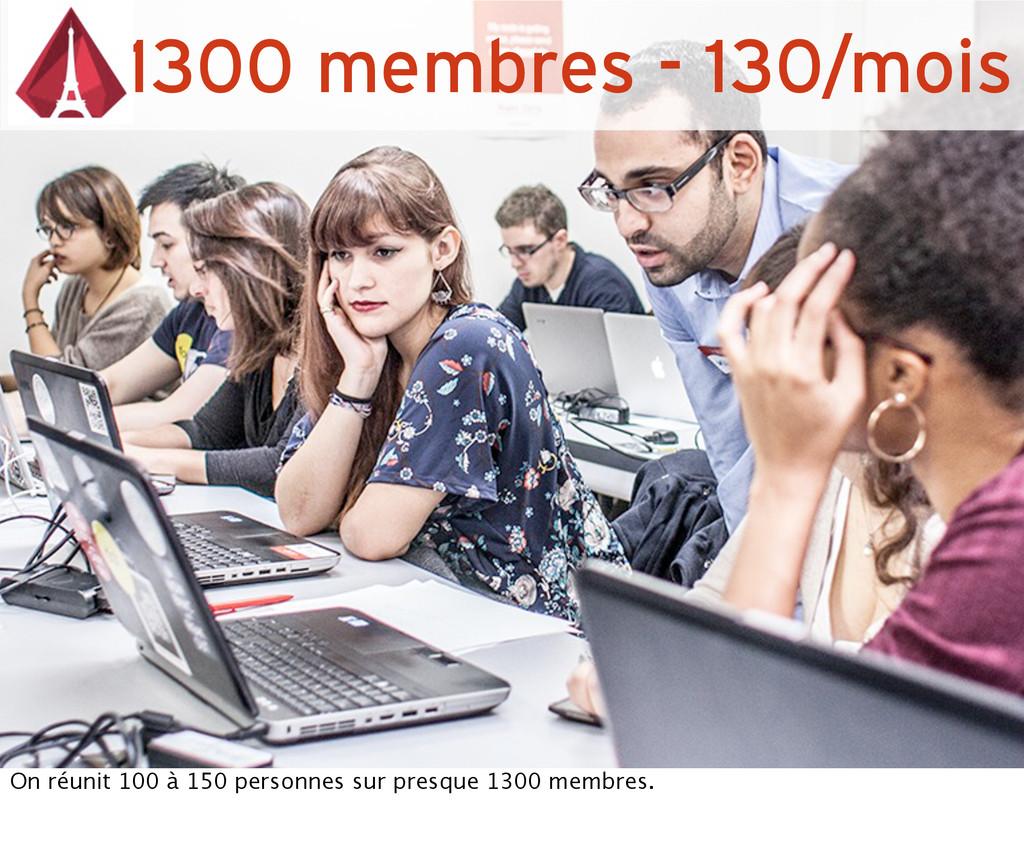 1300 membres - 130/mois On réunit 100 à 150 per...