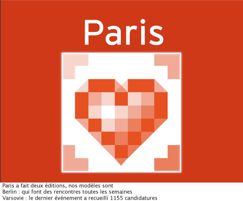 Paris Paris a fait deux éditions, nos modèles s...